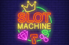 slot machine neon graphic