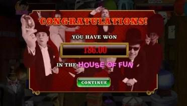 house of fun bonus round end
