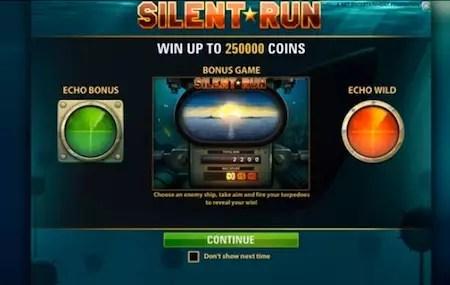 Silent Run slot screen
