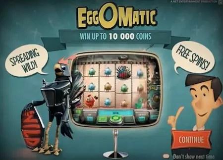 Eggomatic bonus screen