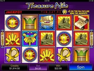 Treasure Nile mobile