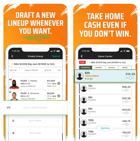Play slots and sports online at Draftskings App on Android