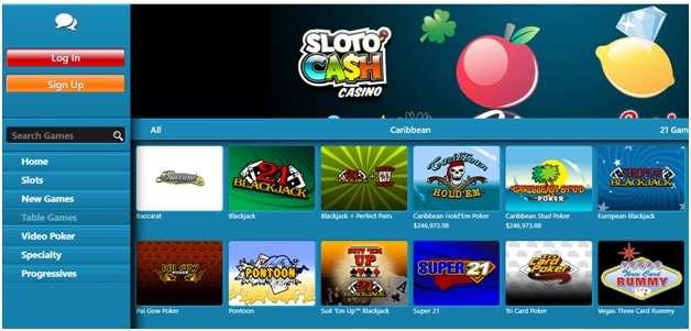 Slotocash casino poker games to play