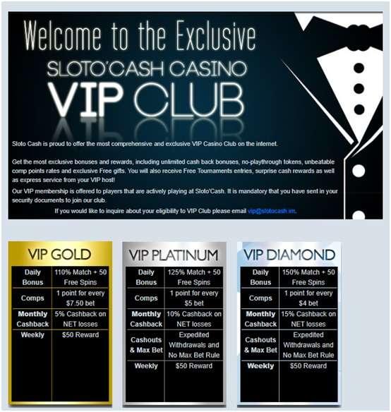 VIP Club- Slotocash casino