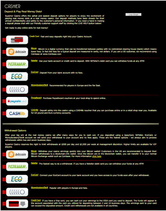 Play slots with real USD or BTC