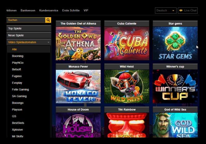 Euromoon Casino Game Lobby