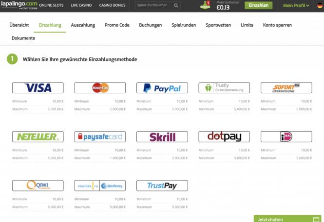 Lapalingo.com Kassierer Screenshot