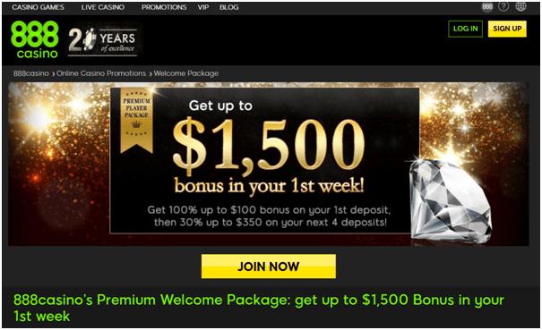 888 Casino Canada premium bonus offer
