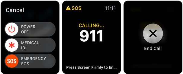 Activate emergency SOS on your Apple watch