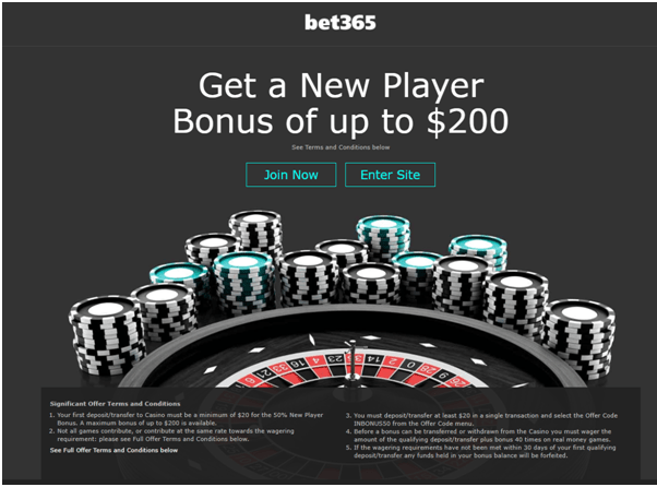 Bet 365 online casino with Apple Pay deposit mode