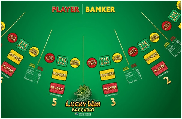 Baccarat game with side bets