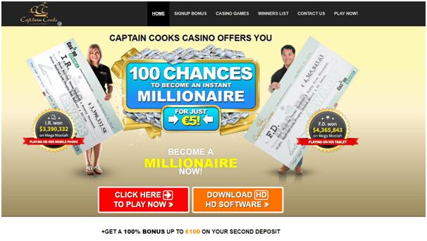 Captain Cooks Casino CAD