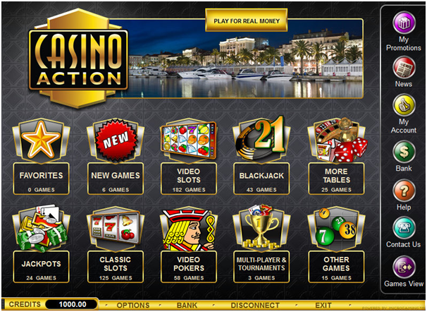 Casino Action Canada- Banking