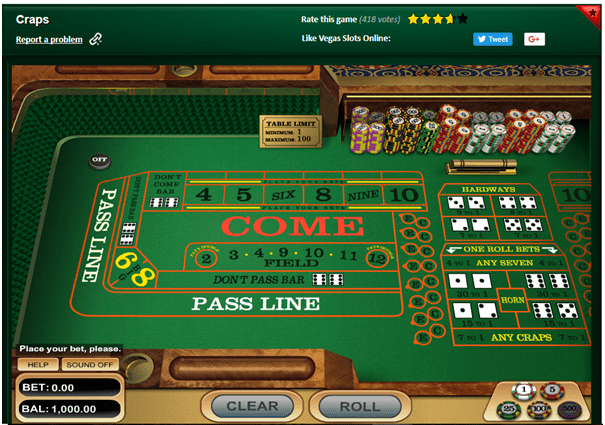 Use your Craps Bets Knowledge to Win at Online Craps