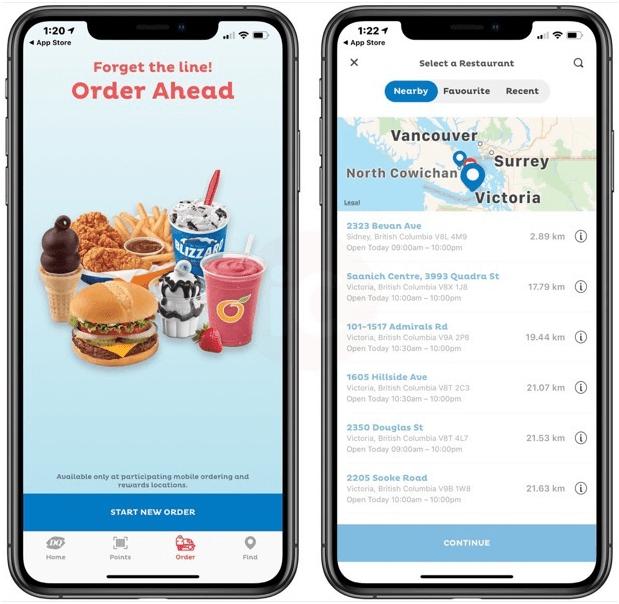 Order from Dairy Queen App