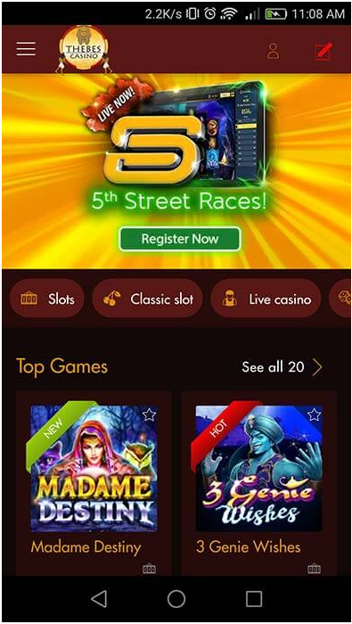 How to play 5th street slot races with your iPhone