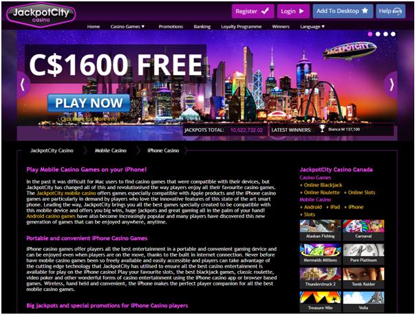 Jackpot city casino Canada iPhone