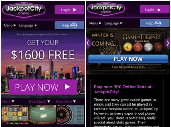 Jackpot City iPhone casino