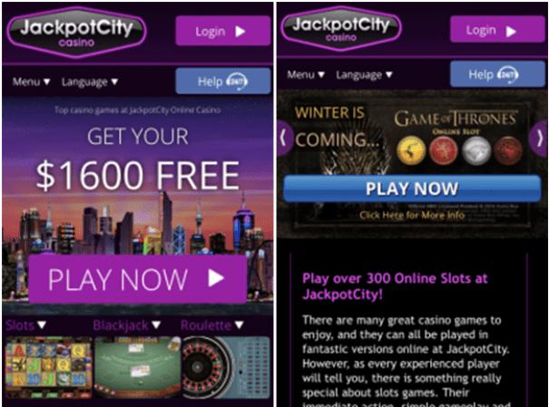 Jackpot City iPhone casino
