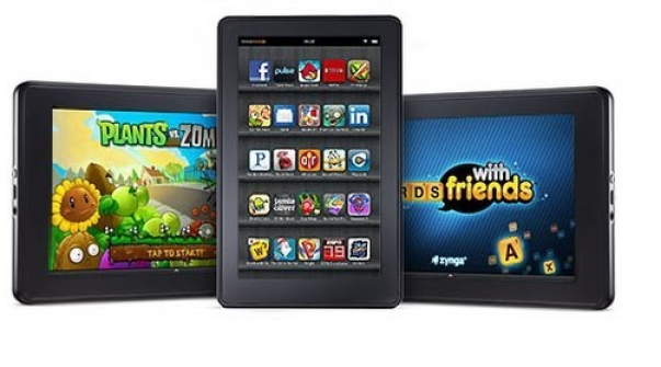 Kindle fire slots