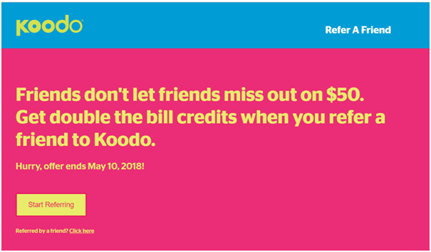 Koodo Refer a friend bonus