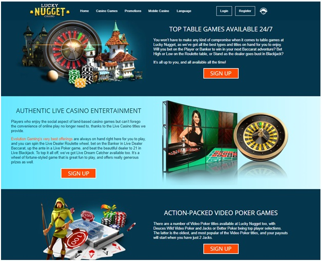 Lucky Nugget Casino Canada- Games Included