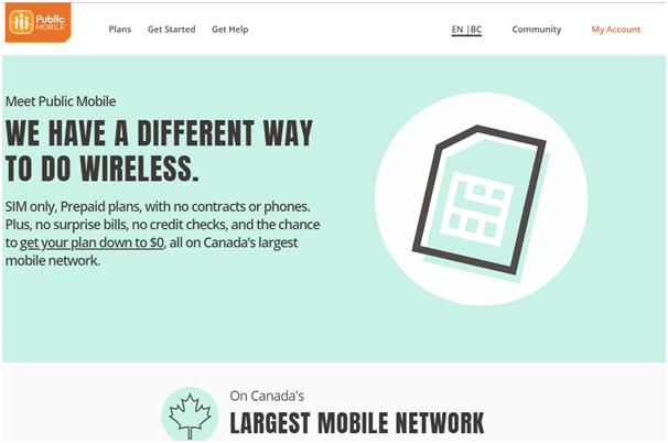 Public mobile plans