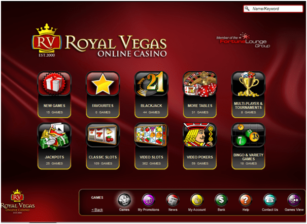 Royal Vegas Casino App Games to play