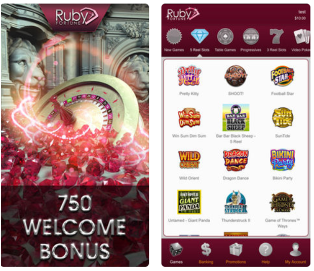 Ruby Fortune Casino in CAD
