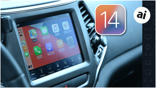 What are some of the outstanding new features of iOS 14- Car Play