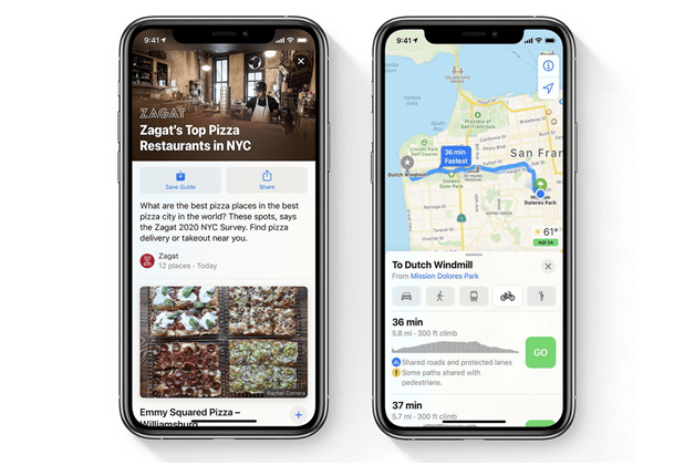 What are some of the outstanding new features of iOS 14- Maps
