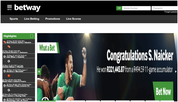 Sports betting online site for South African players