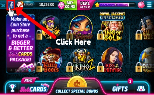 How to Collect Free Coins Playing Slotomania on Facebook