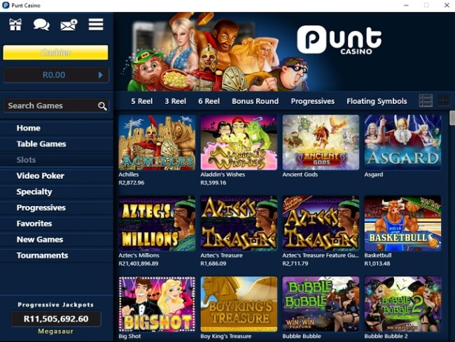 Punt-Casino for Windows phone