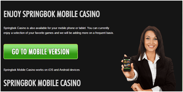 Springbok Mobile Casino