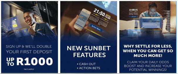 Sunbet South Africa - Sports bookmaker bonus
