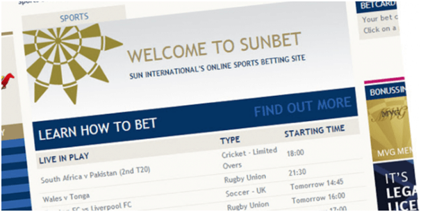 How to place bets at SunBet