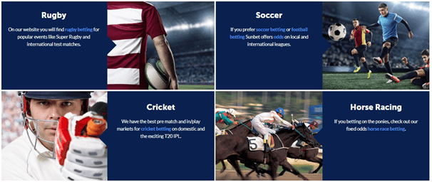 Sunbet South African sports betting bookmaker
