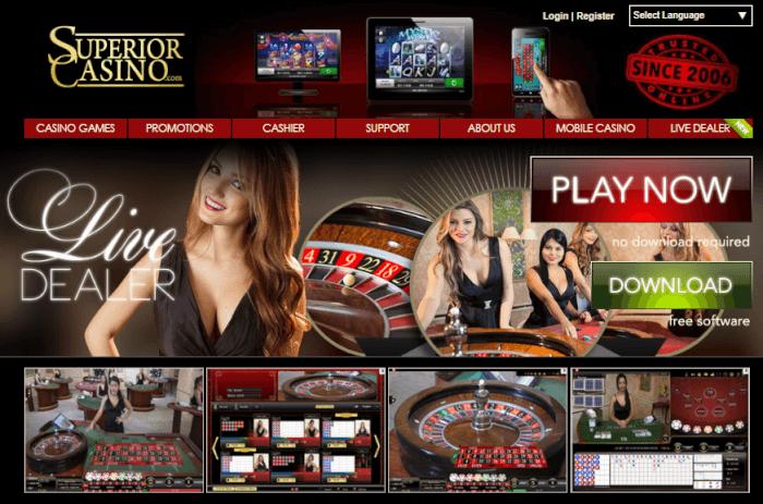 Superior Casino Live dealers