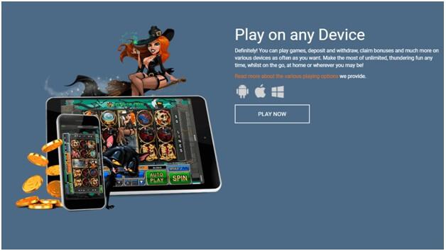 Thunderbolt online casino for mobile play