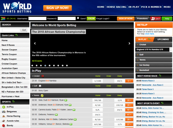 World Sports betting south africa
