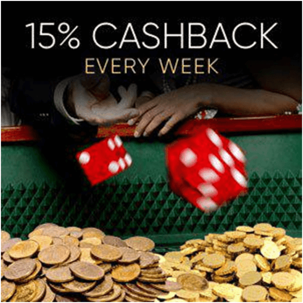 Yebo Casino - Cashback offer