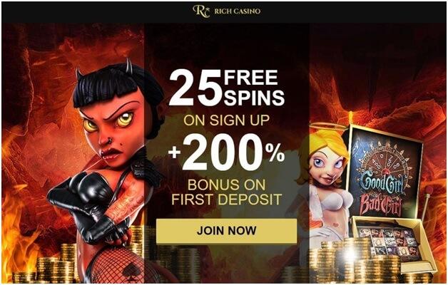 Rich casino free spin bonus