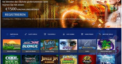 Alle Slots Online Casino für deutsche Spieler