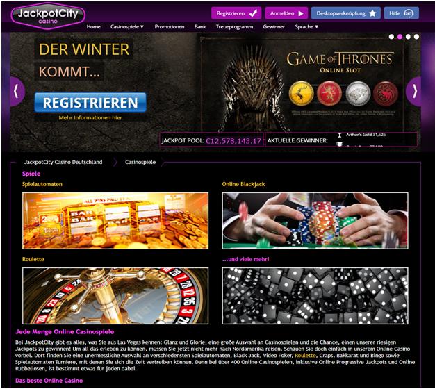 Slot-Spiele im Jackpot City Casino