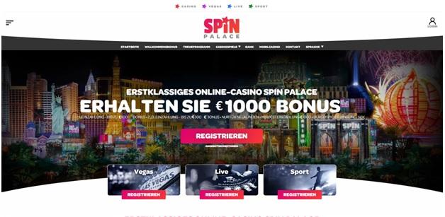 Spin Casino für deutsche Spieler, um Online-Slots, Live-Spiele und Sportwetten zu spielen