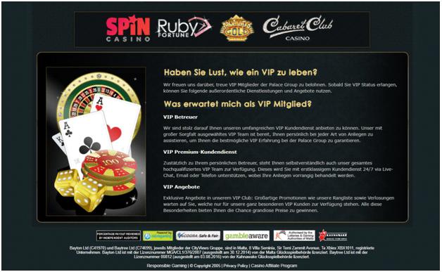 Treueprogramm im Ruby Fortune Casino für treue Spieler