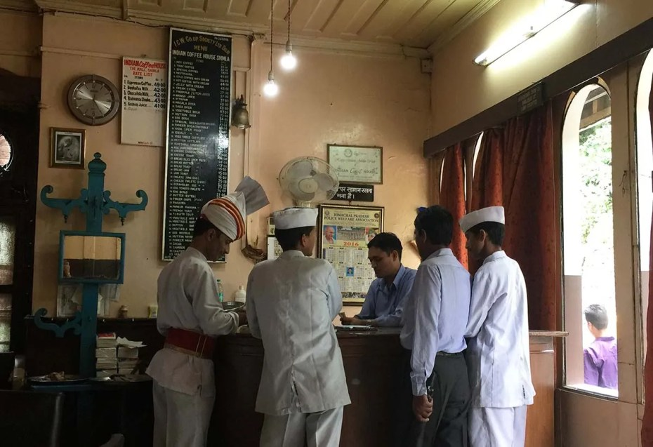 Indian Coffee House waiters