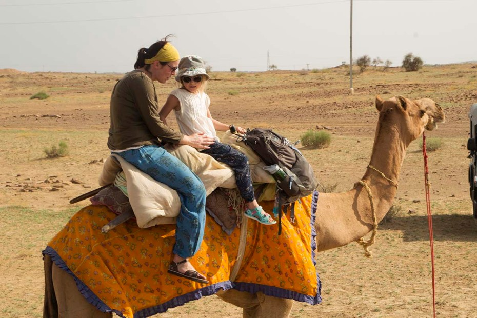 Camel trekking - A highlight of traveling Rajasthan by train