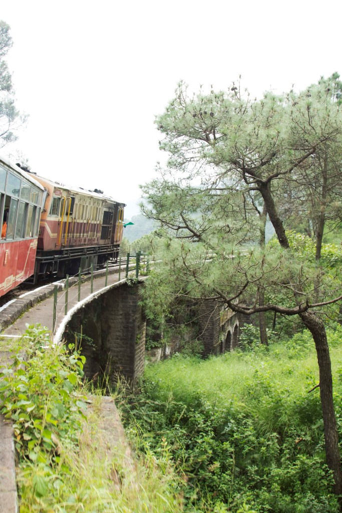 The Himalayan Queen crossing one of many bridges